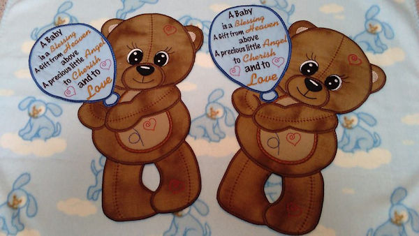 In the hoop Teddy Bear Announcement