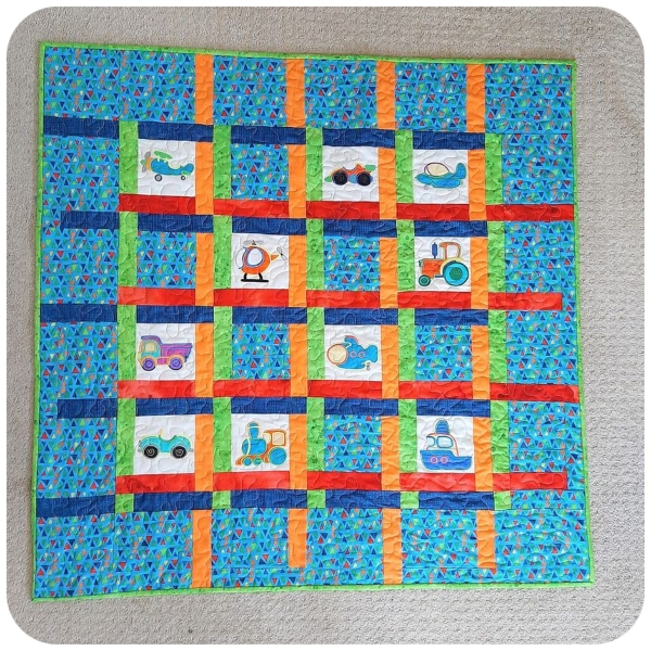 Holley - Boys Toys Machine Embroidery Quilt