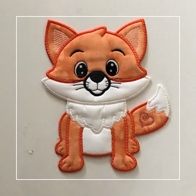 Large Applique Fox by Kreative Kiwi