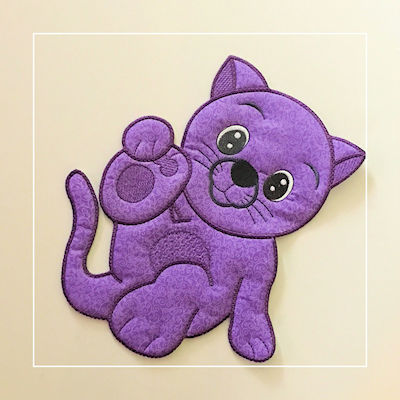 Large Applique Cat