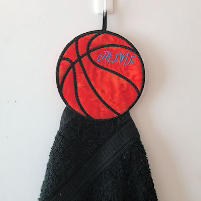 Free In the hoop Basketball Towel Topper