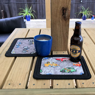 beer coaster in the hoop