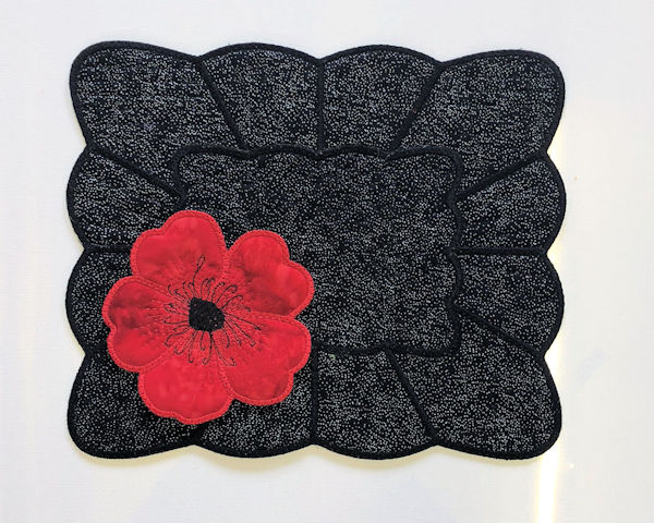 Placemat with Poppy Coaster