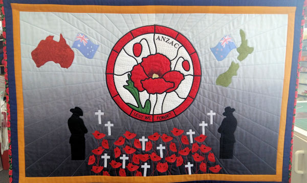 Amazing Anzac Quilt by Ivy