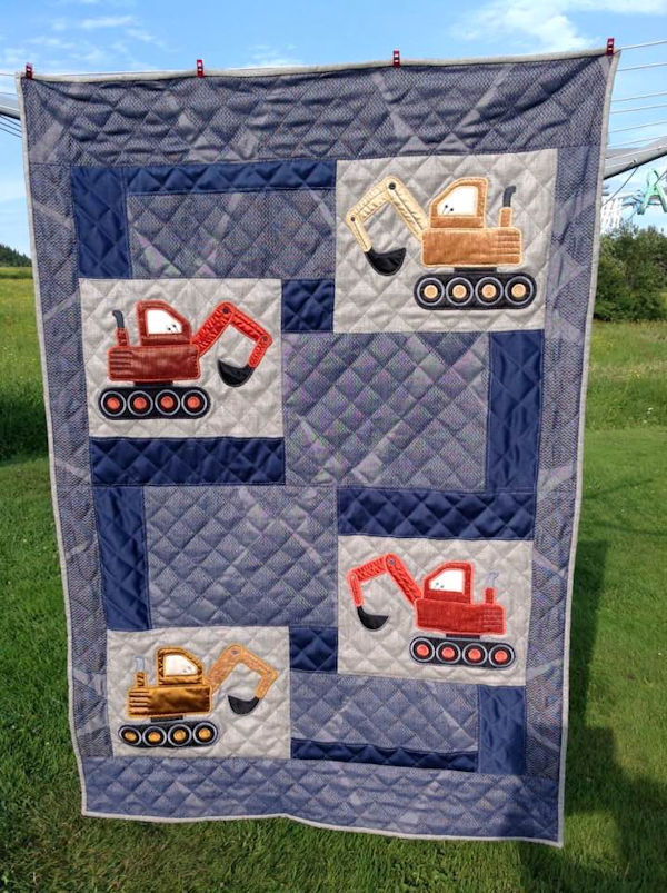 IW Digger Quilt by Martine