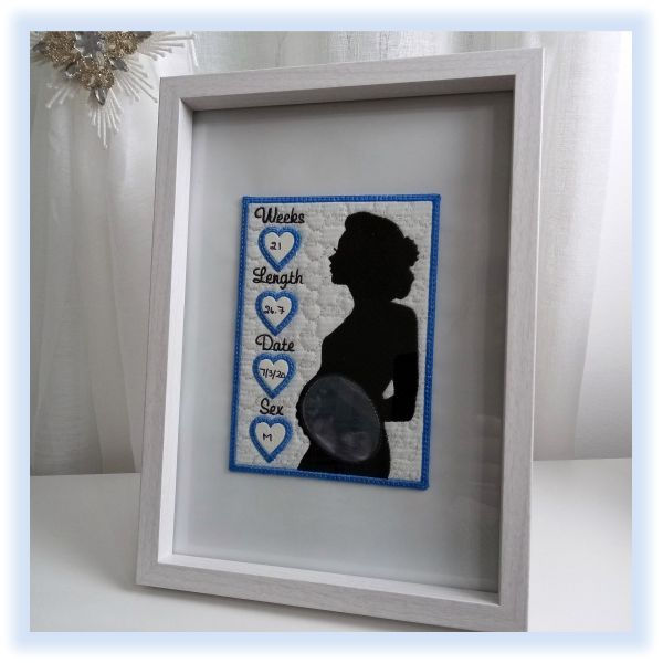 In the hoop Baby Scan Photo Frame by Kays Cutz