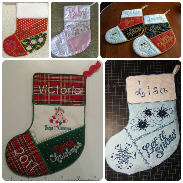Christmas Stockings made In the hoop