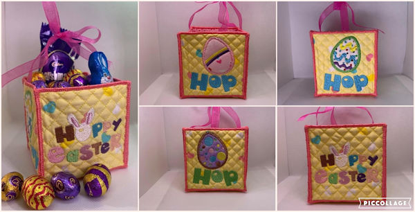 In the hoop Easter Basket by Cotton-I-Sew