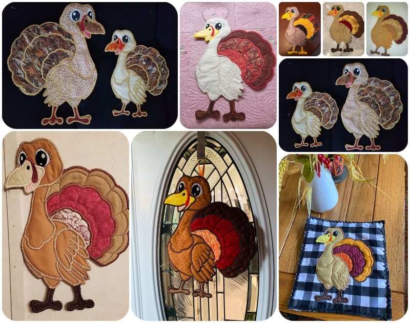 In the hoop turkeys by Kreative Kiwi Group - 800
