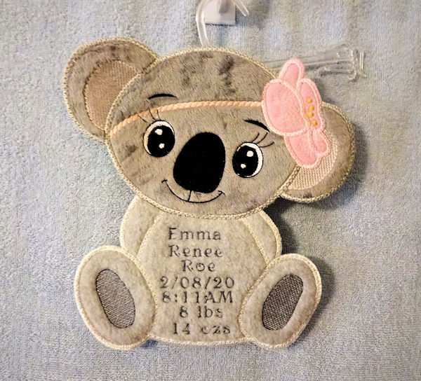 Instant Win - Sally - Koala Birth Announcement