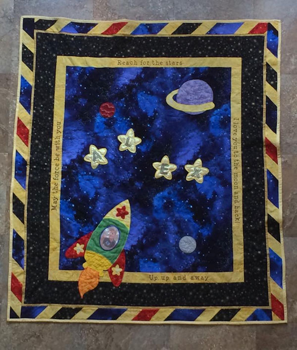 Space Quilt for Boys