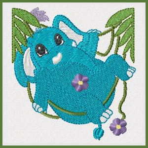 Free Elephant Machine Embroidery Design