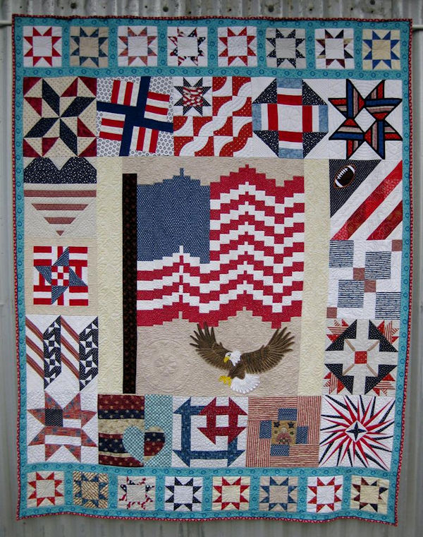 American Quilt with Eagle Applique