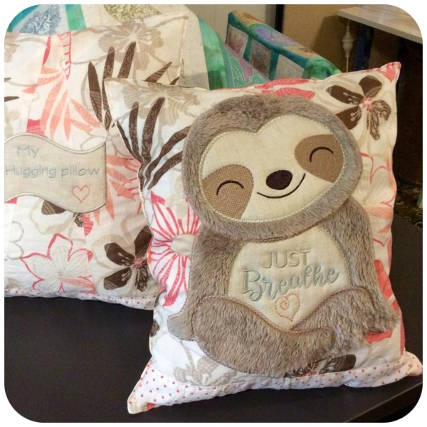 Janice - Large Sloth cushion