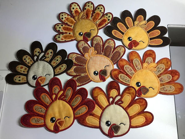 Turkey Coasters made by Judi