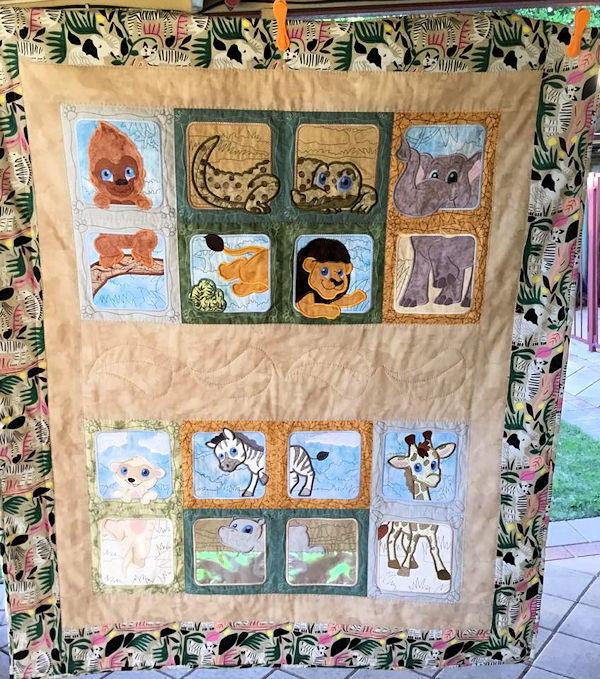 Jungle Animal Quilt by Jan