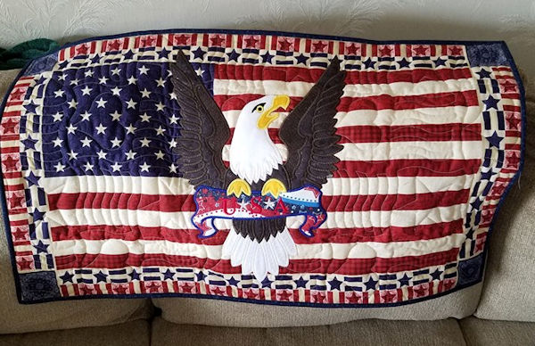 Quilted Eagle Flag