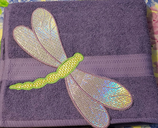 Large Applique Dragonfly