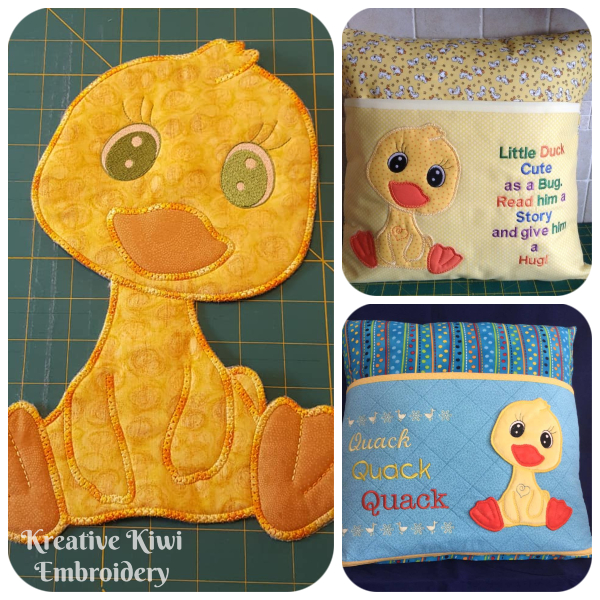Large Applique Duck  Samples