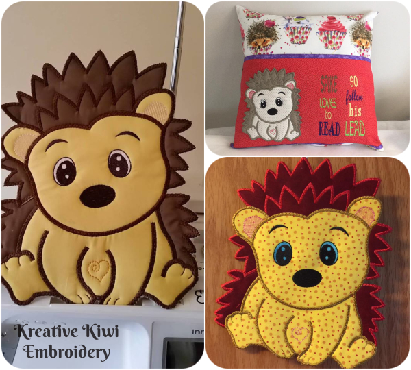 Large Applique Hedgehog by Kreative Kiwi