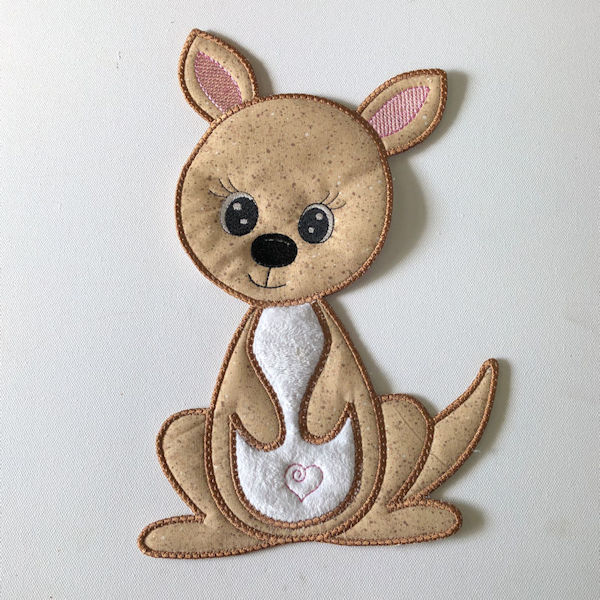Large Applique Kangaroo
