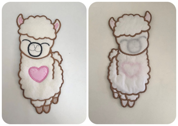 Large Applique Llama Front and Back