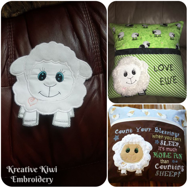 Large Applique Sheep Samples