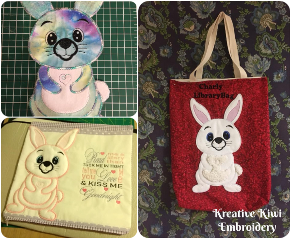 Large Applique Bunny by Kreative Kiwi