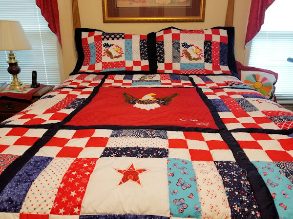 Large USA Eagle Quilt by Teresa