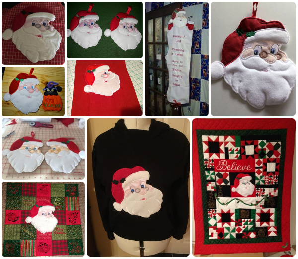 Large Santa In the hoop design samples