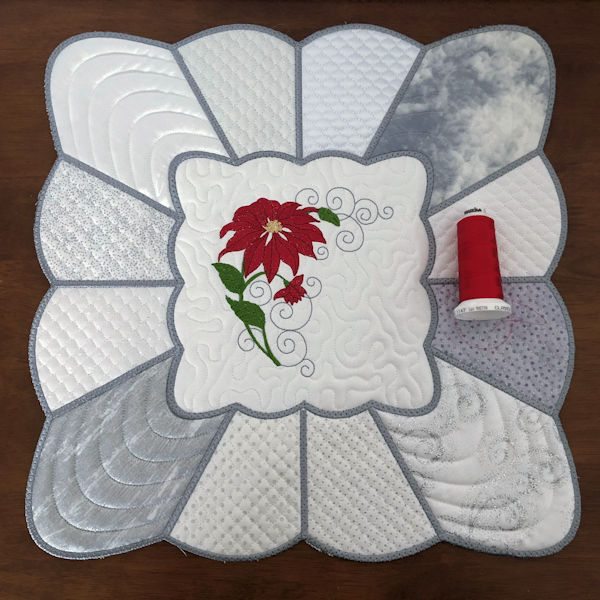 Large Square Scallop Placemat In the hoop