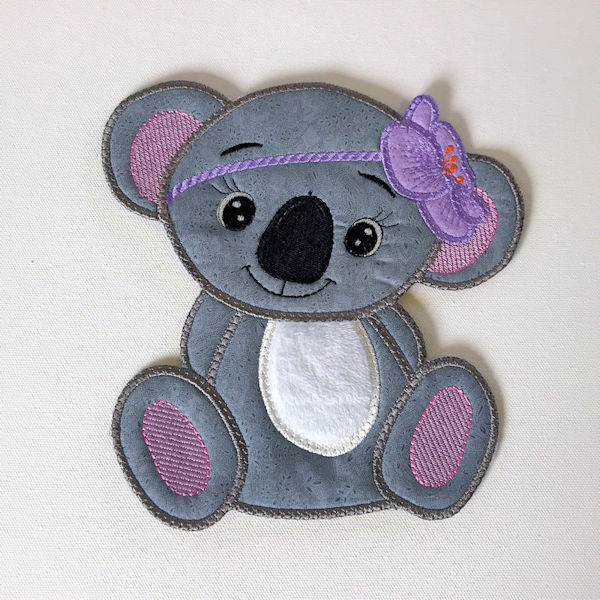 Large Girl Koala Applique