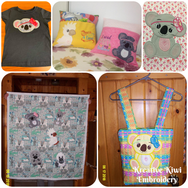 Large Applique Koala Samples