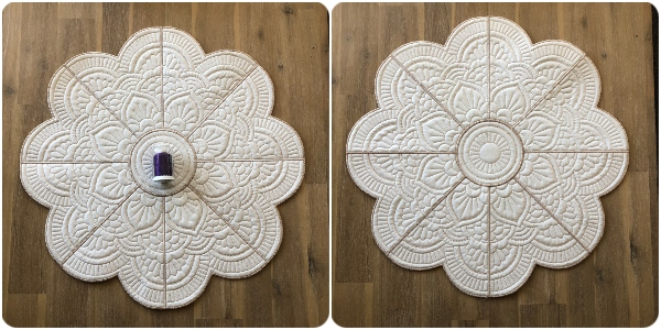 Large Mandala Flower Placemat  - front and back