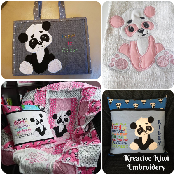 Large Applique Panda by Kreative Kiwi