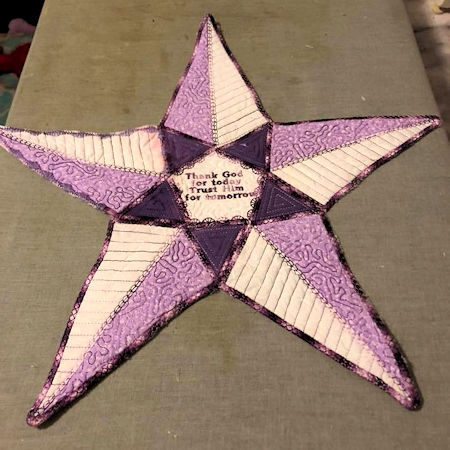 Large Applique Star stitched by Anita