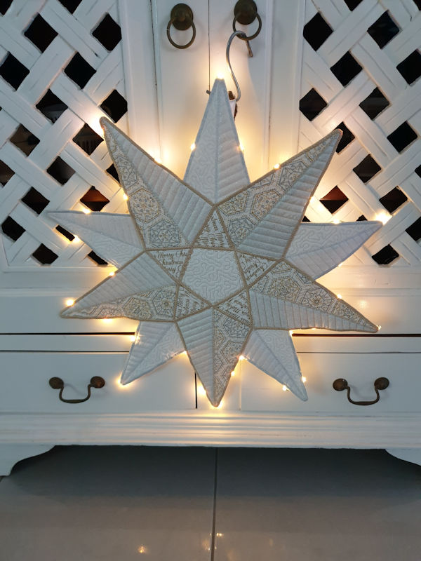 Large Applique Star by Yvonne
