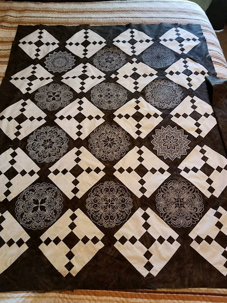Marys Black and White Quilt