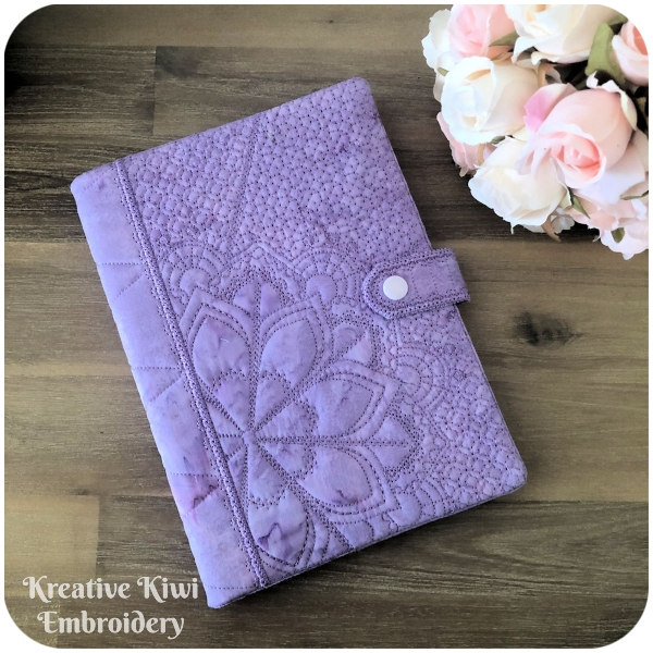 Mandala Notebook Cover In the hoop - 600-b