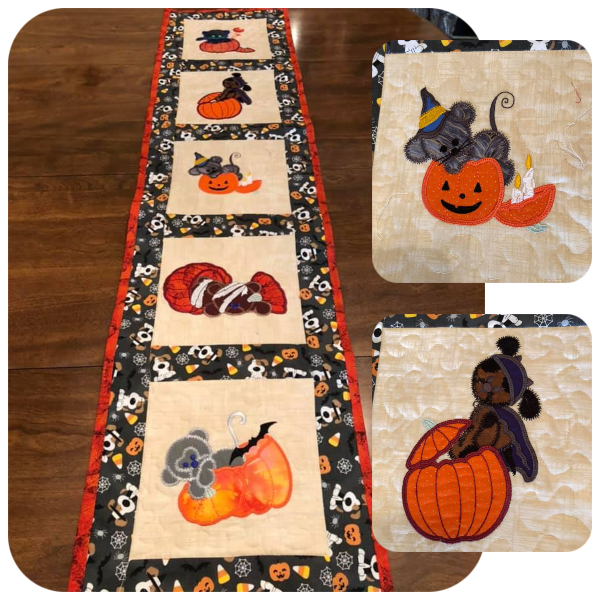 Halloween Tablerunner by Marge