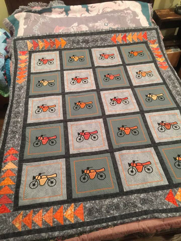 Motorcycle Quilt Blocks by Wendy