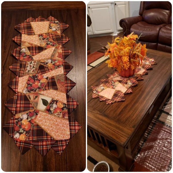 Crazy Patch Table runner by Mozelle