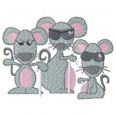 Free 3 blind mice embroidery design
