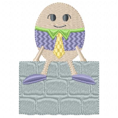 Free Humpty Dumpty embroidery design
