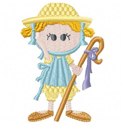 Free Little Bo Peep embroidery design
