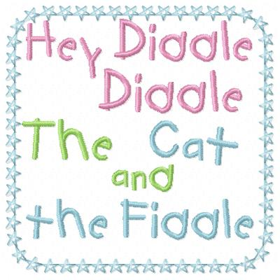 Free Cat and the fiddle  embroidery design