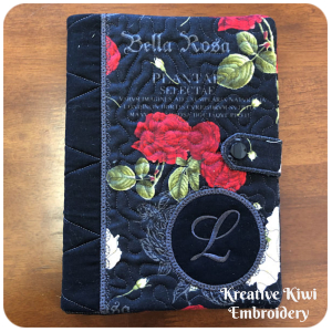 In the hoop Notebook Cover with Circle Patch