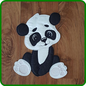 Large Applique Panda