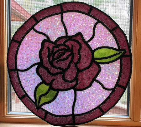 Rose Stained Glass Placemat