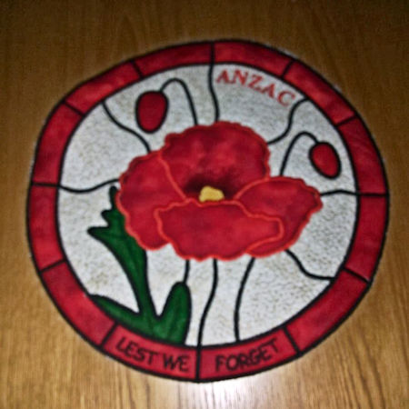In the hoop poppy placemat